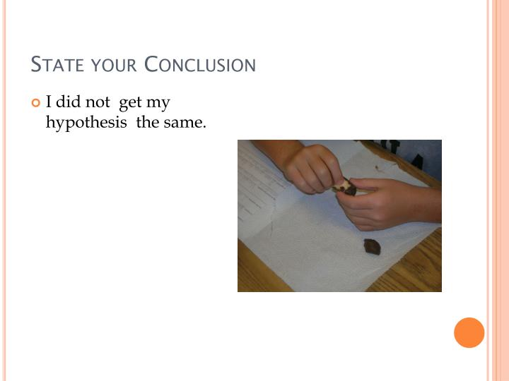 State your Conclusion