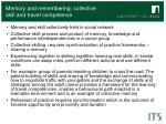 memory and remembering collective skill and travel competence