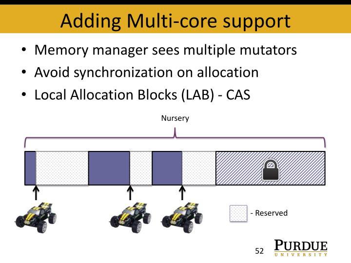 Adding Multi-core support