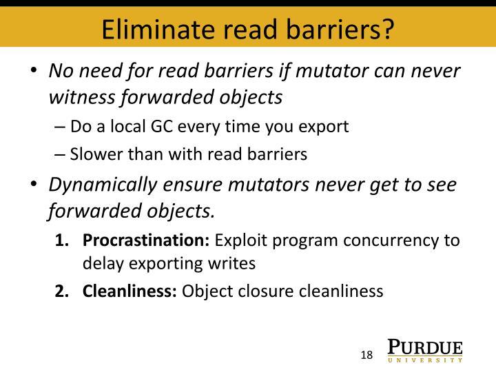 Eliminate read