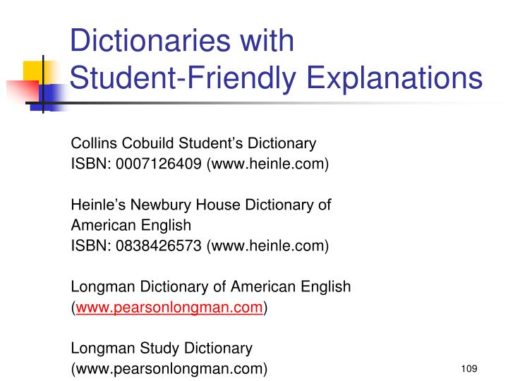 Dictionaries with