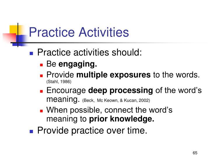 Practice Activities