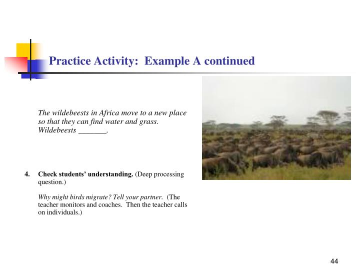 Practice Activity:  Example A continued