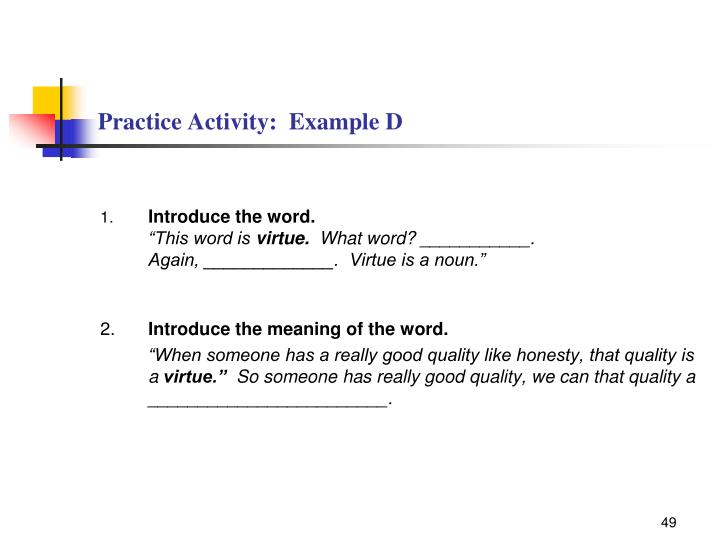 Practice Activity:  Example D