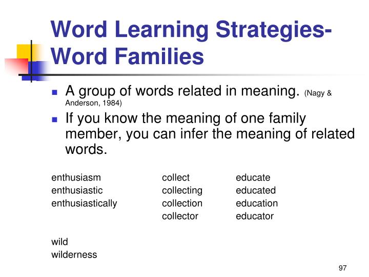 Word Learning Strategies-