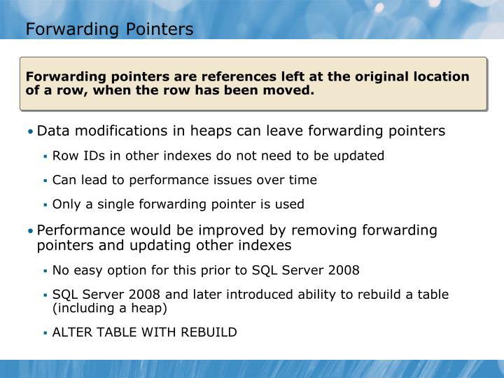 Forwarding Pointers