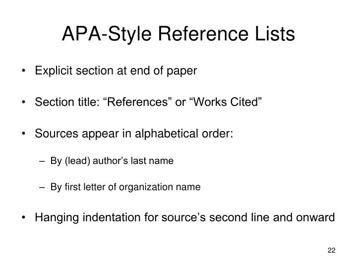 work cited apa style