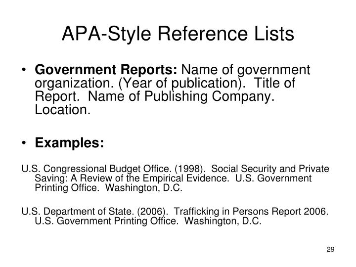apa style referncing Apa style apa references apa references documenting sources at the end of your paper every cited source from your essay should appear in your references page.