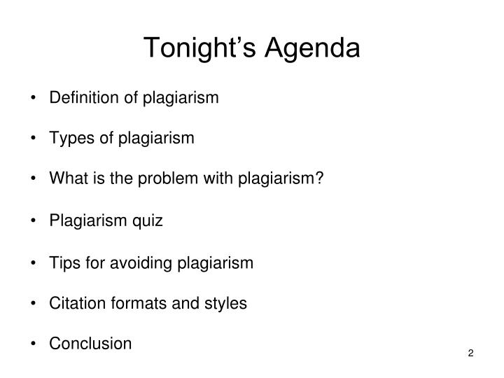 plagiarism and citation