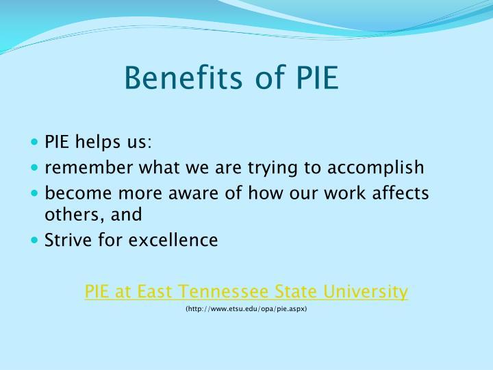 Benefits of PIE