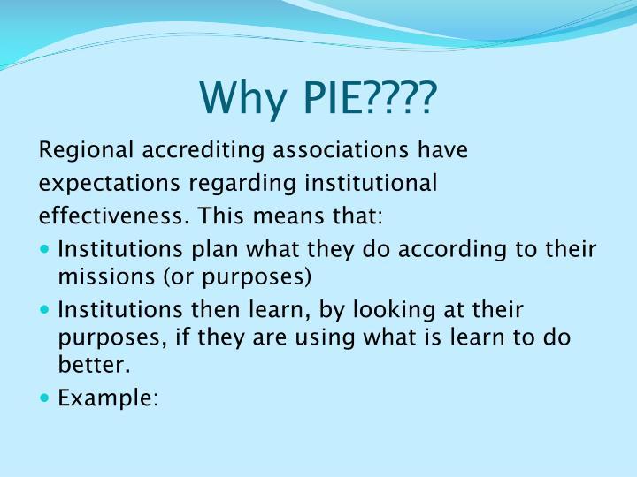 Why PIE????