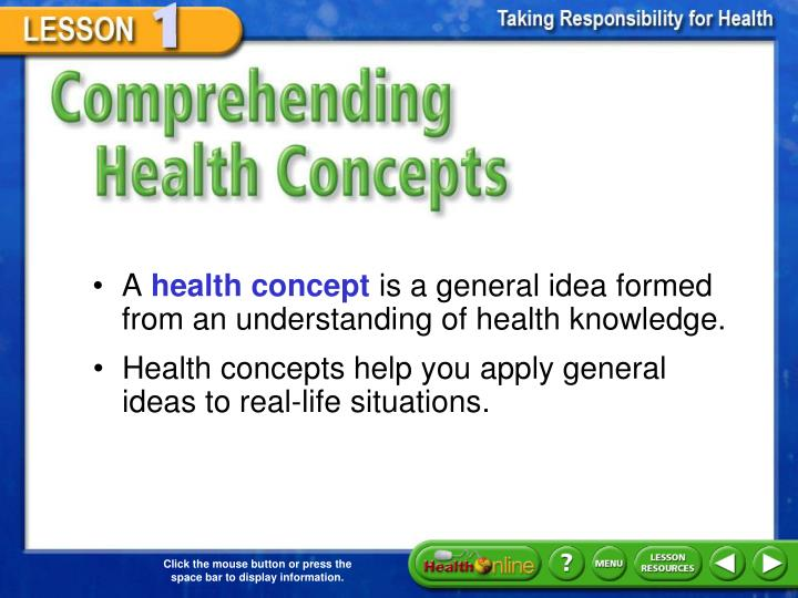 Comprehending Health Concepts