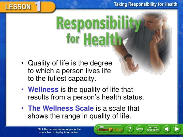 Responsibility for Health