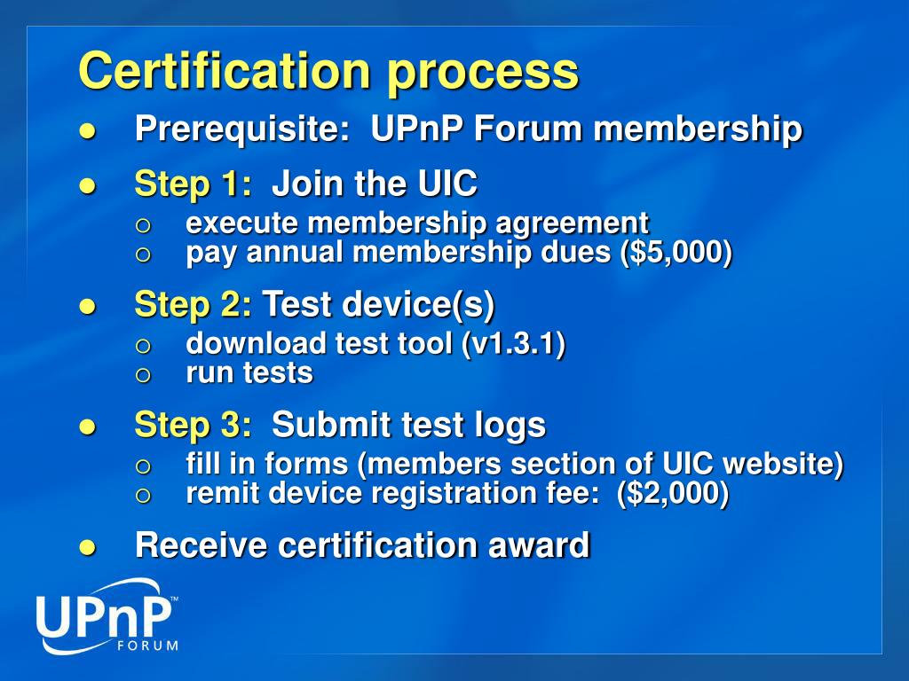 PPT - UPnP Certification Guidelines PowerPoint Presentation