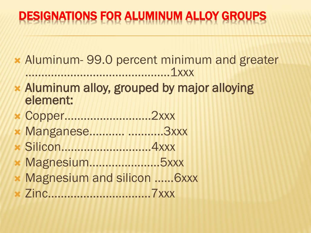 PPT - General Aluminum Information PowerPoint Presentation