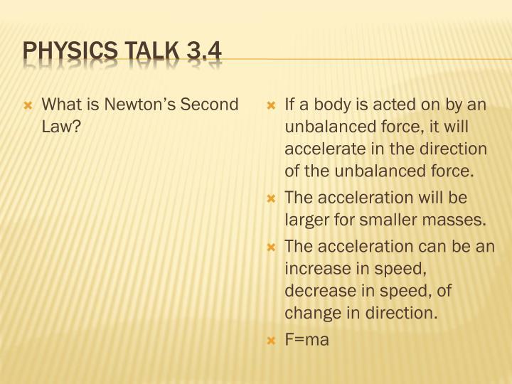 Physics Talk 3.4