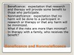 beneficence and nonmaleficence
