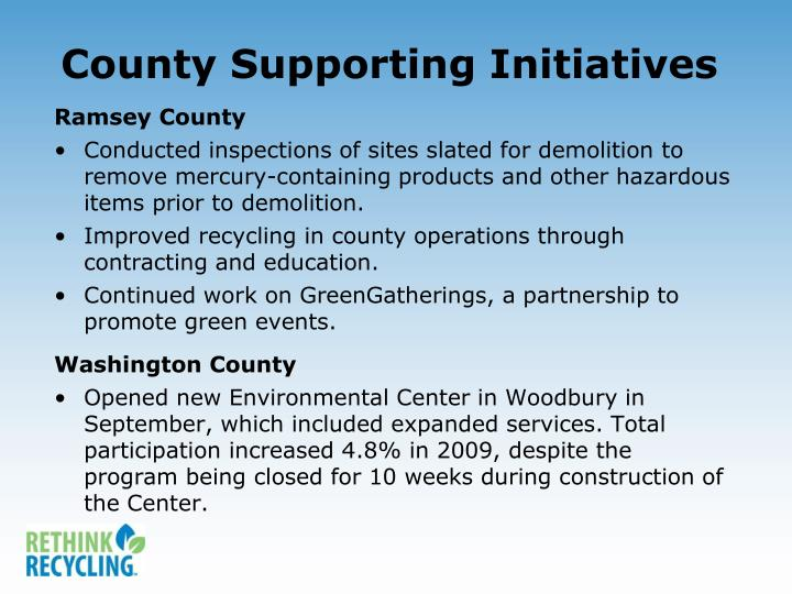 County Supporting Initiatives
