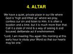 4 altar