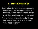 5 thankfulness