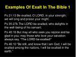 examples of exalt in the bible 1