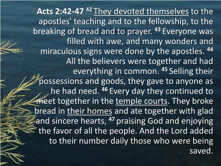Acts 2:42-47