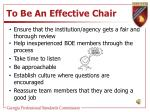 to be an effective chair3