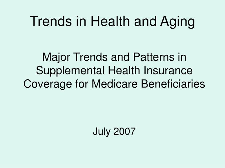 trends in health and aging n.