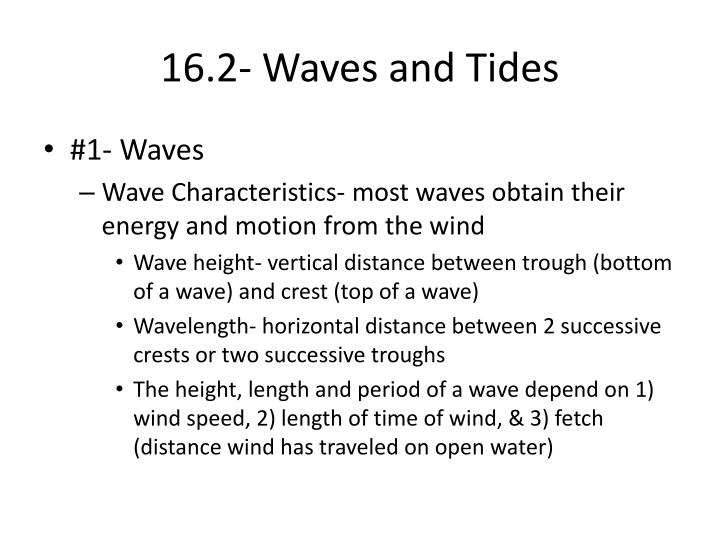 16.2- Waves and Tides
