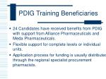 pdig training beneficiaries