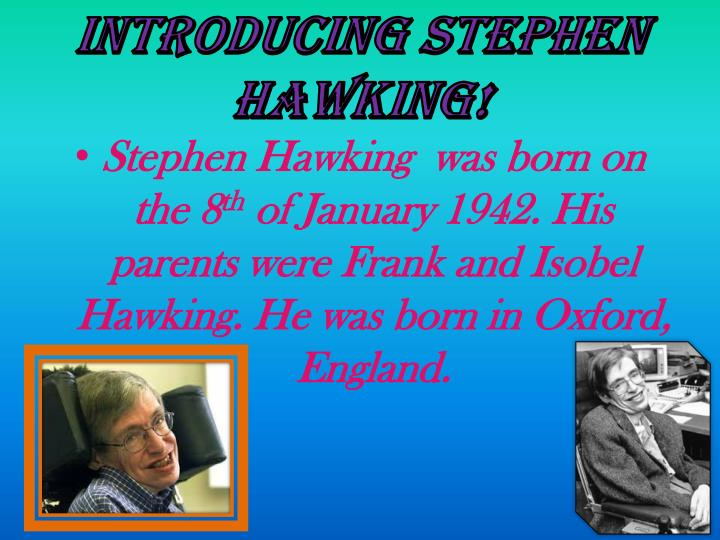 Stephen hawking's |authorstream.