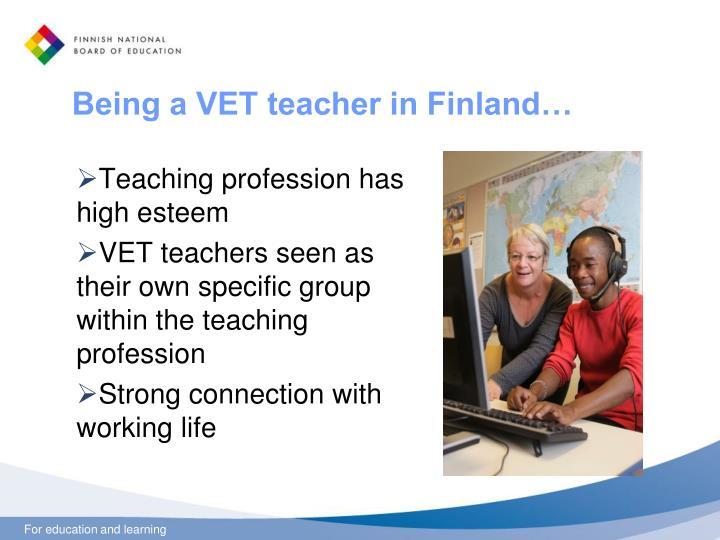 Being a VET teacher in Finland…