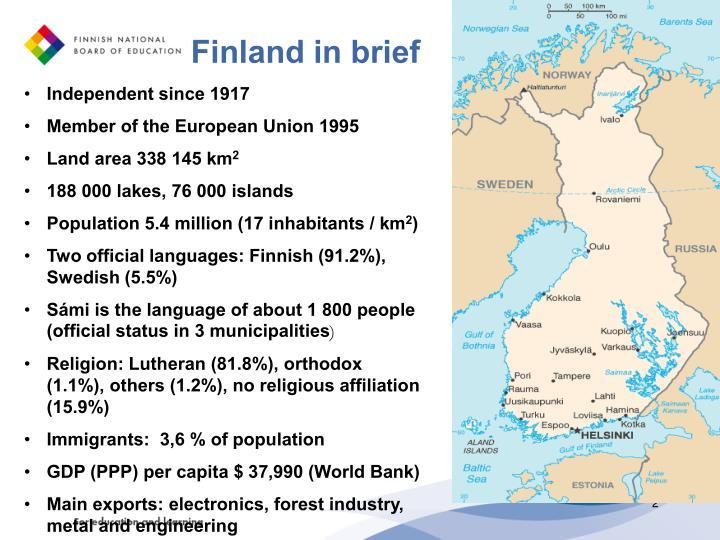 Finland in brief