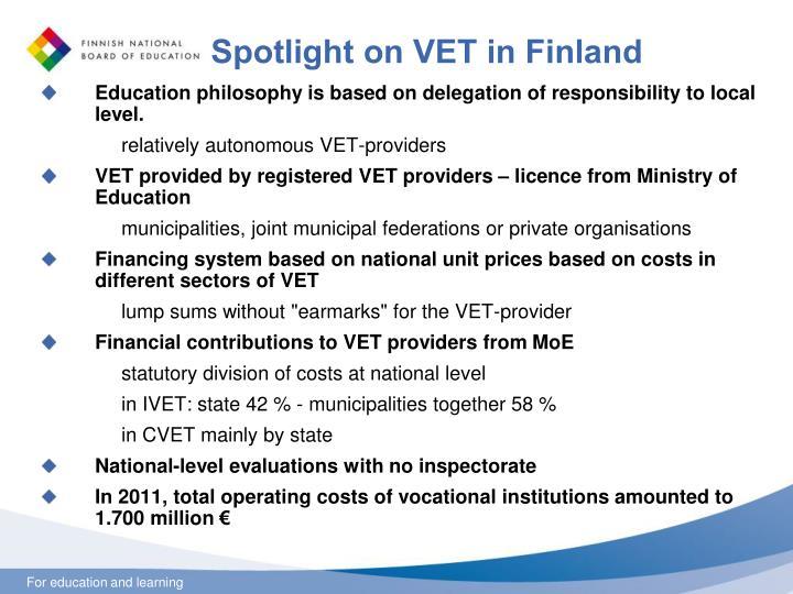 Spotlight on VET in Finland