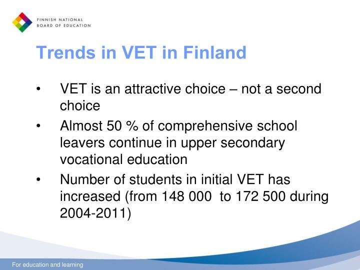 Trends in VET in Finland