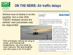on the news air traffic delays