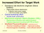 increased effort for target work