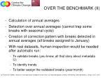 over the benchmark ii