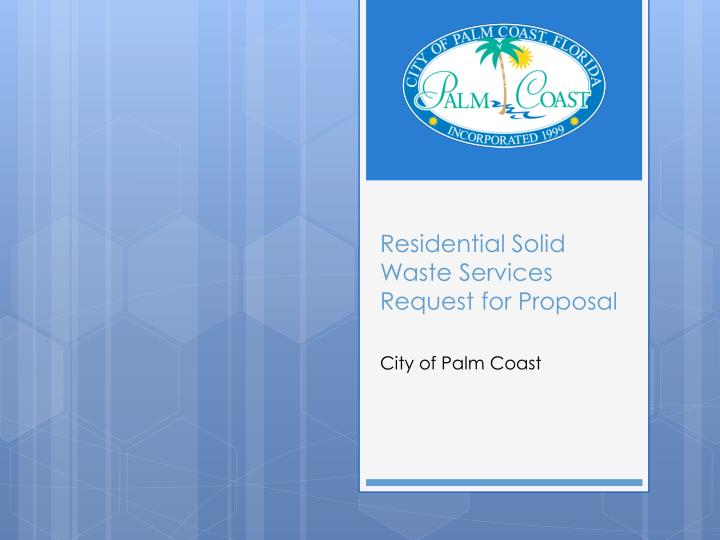 residential solid waste services request for proposal n.