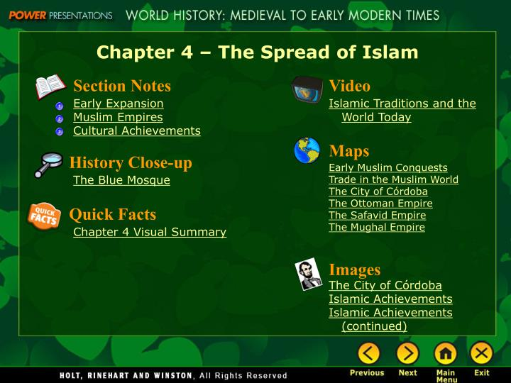 PPT - Chapter 4 – The Spread of Islam PowerPoint ... Maps Early Muslim Conquests on early muslim world map, spanish conquest of mexico map, al-andalus map, arab islamic conquest map, early muslim travel map, early muslim history map,