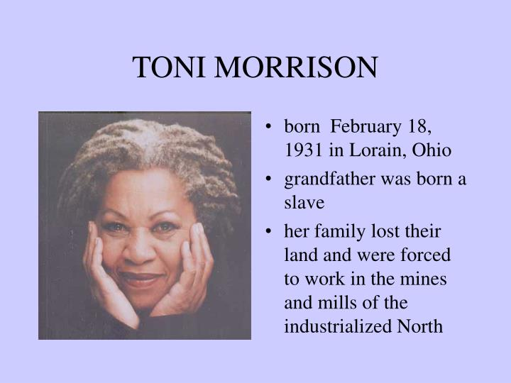 toni morrison thesis on suicide Sula sula by tony morrison is the story of a friendship between nel wright and sula peace, who are opposites in the way of relating to other people, to the world around them, and to themselves  sula is an irrational and transient character.