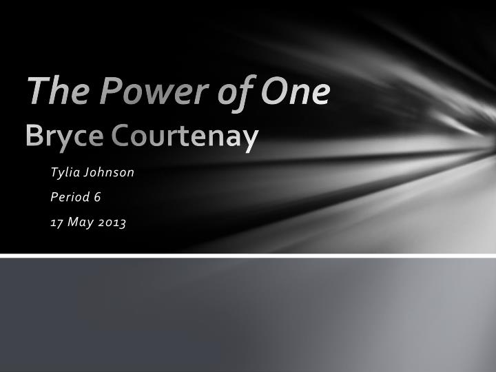 the power of one bryce courtenay n.