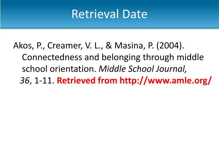 Retrieval Date