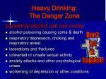 heavy drinking the danger zone
