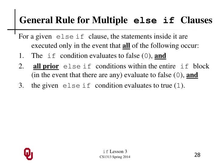 General Rule for Multiple