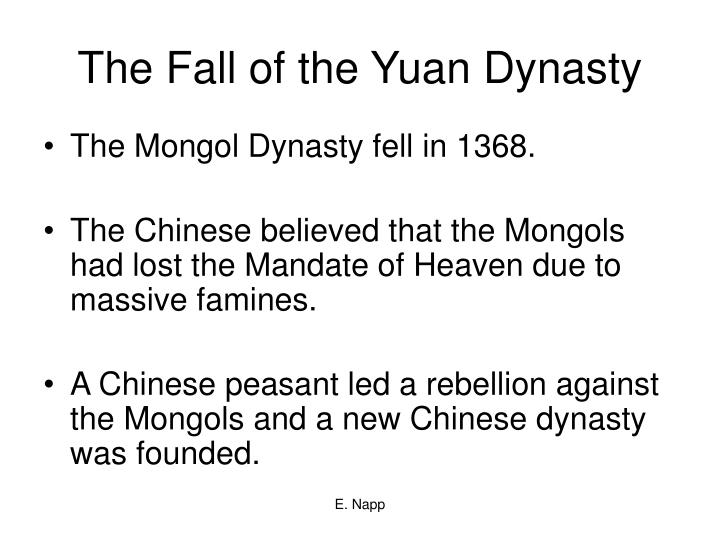 The Fall of the Yuan Dynasty
