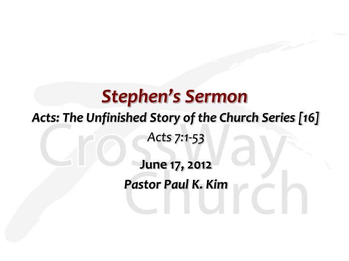 Stephen s sermon