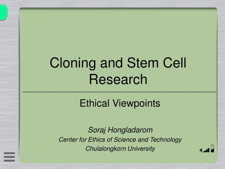 cloning and stem cell research n.