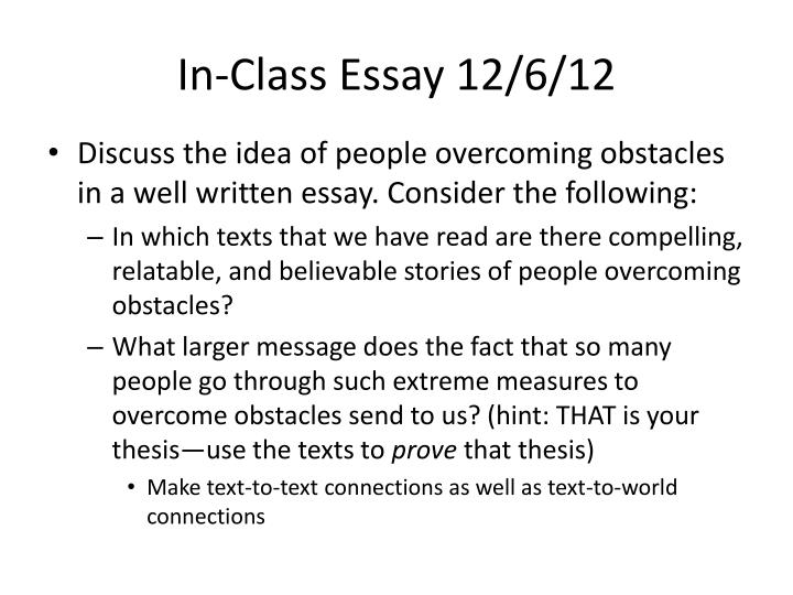 essay about first day in class 12 english