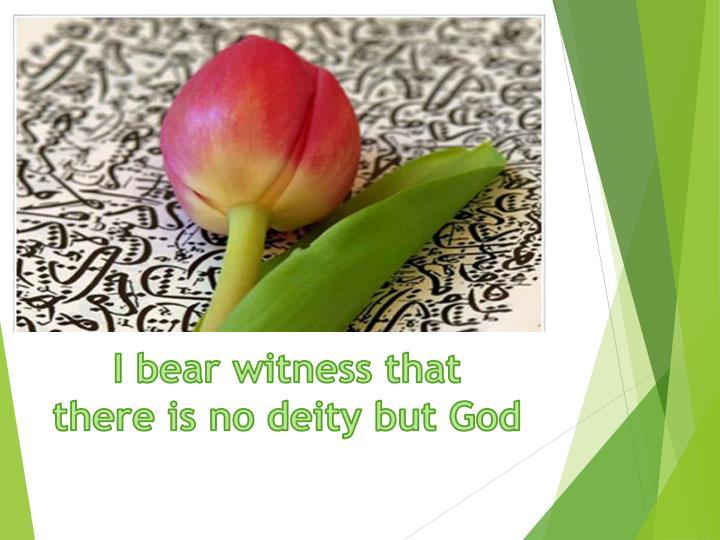 I bear witness that
